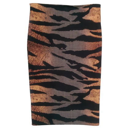 McQ Alexander McQueen Pencil skirt inter look print