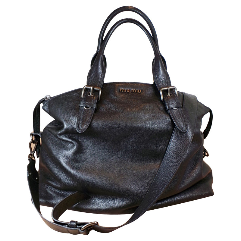 Miu Miu Lederen tas in het zwart