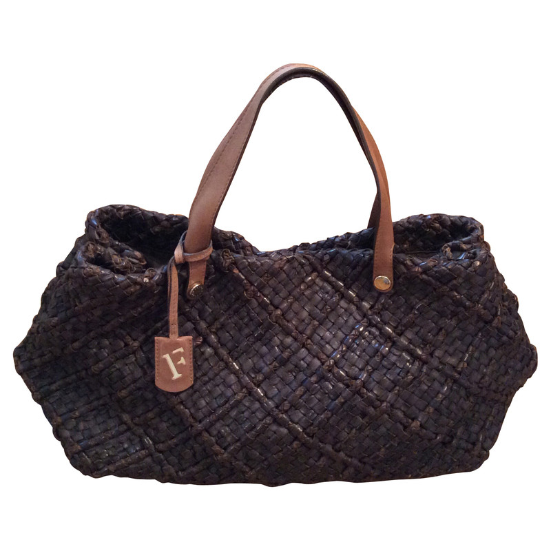 Furla Braided leather handbag