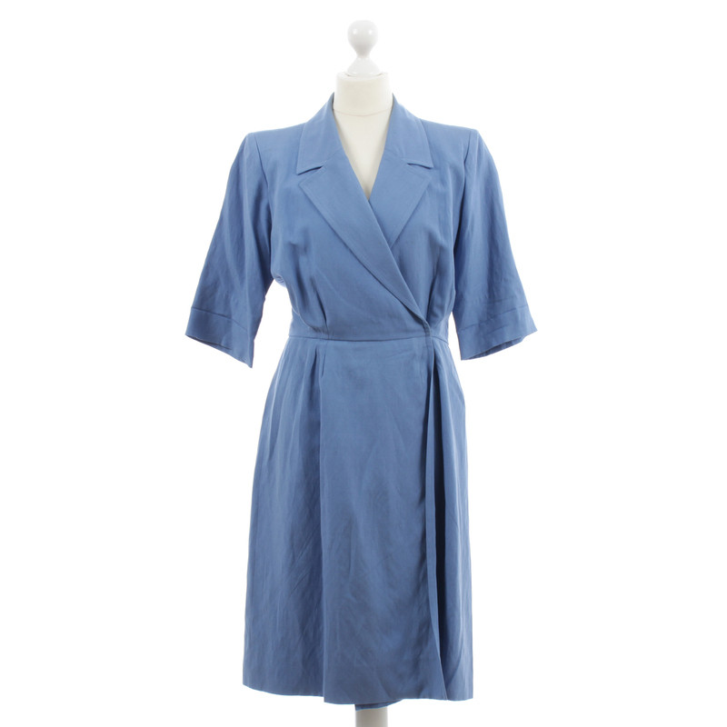 Yves Saint Laurent Vestito a portafoglio blu