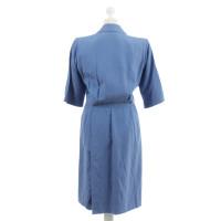 Yves Saint Laurent Blauwe wrap jurk