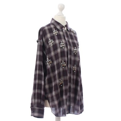 By Malene Birger Plaid shirt, embellished