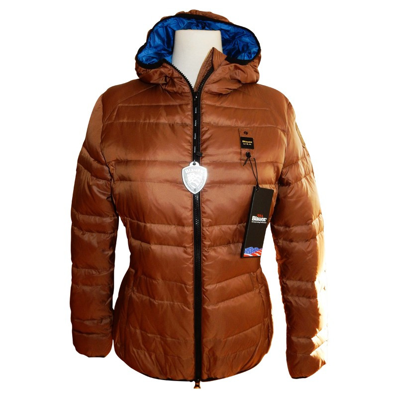 Blauer USA Light blue United States down jacket Brown khaki size L + hot * new *.