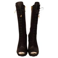 Versace  kant omhoog open teen laarzen