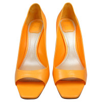 Christian Dior CHRISTIAN DIOR HIGH HEELS IN ORANGE LEATHER