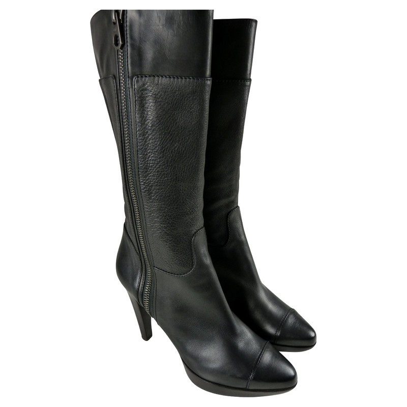 Proenza Schouler Black nappa leather boots