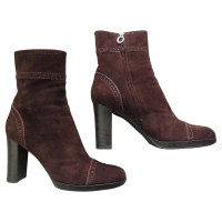Sergio Rossi Sergio Rossi women's ankle boot size 38 1/2-39, suede Brown