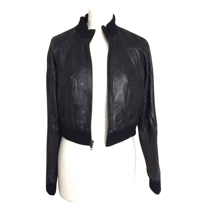 Diane von Furstenberg Blue leather jacket