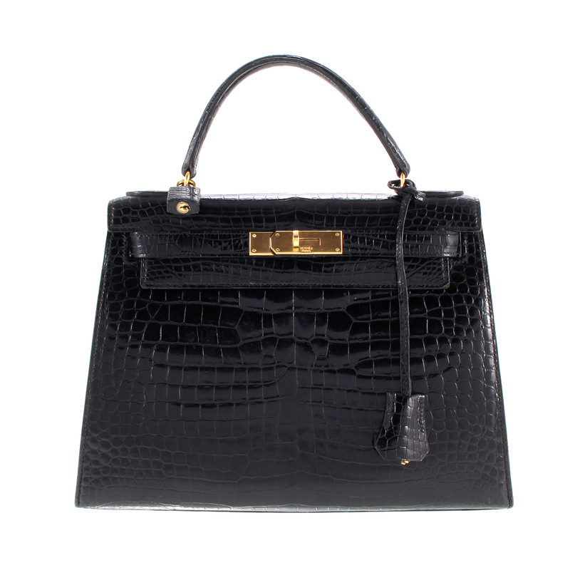 Hermès Kelly Bag en cuir de crocodile