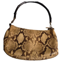 Gucci Snake leather bag with bamboo decoration