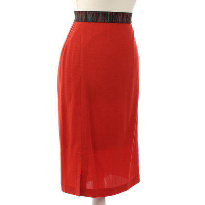 Missoni Midi-Rock in Rot