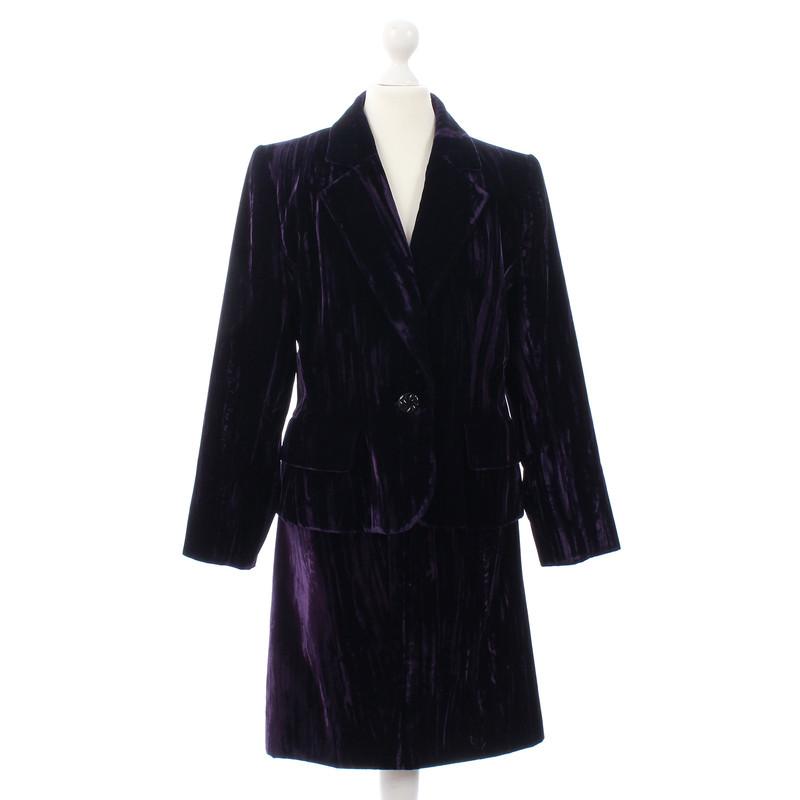 Yves Saint Laurent Samtkostüm in Violett