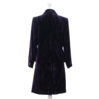 Yves Saint Laurent Velvet costume purple