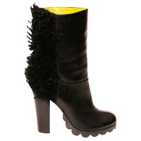 Pollini Black boots with fur
