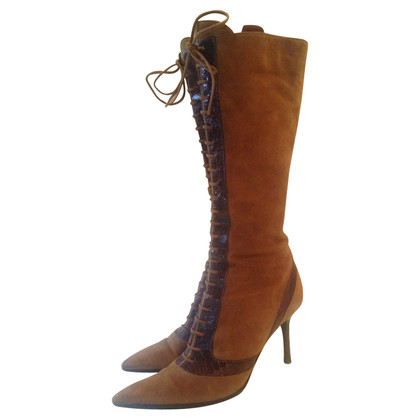 Sergio Rossi Brown boots with lacing