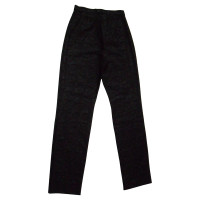 Marc Cain black/grey shimmering stretch trousers