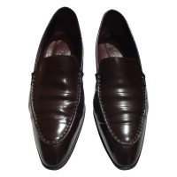 Tod's Leather slipper in wine red