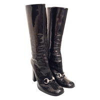 Gucci Black patent leather boots