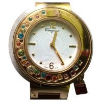 Salvatore Ferragamo Gancino Armband Watch in roestvrij staal met Topaz