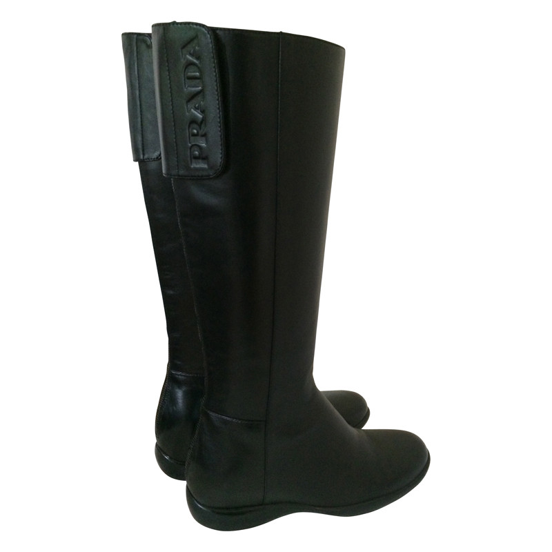 Prada Zwart lam lederen schoen