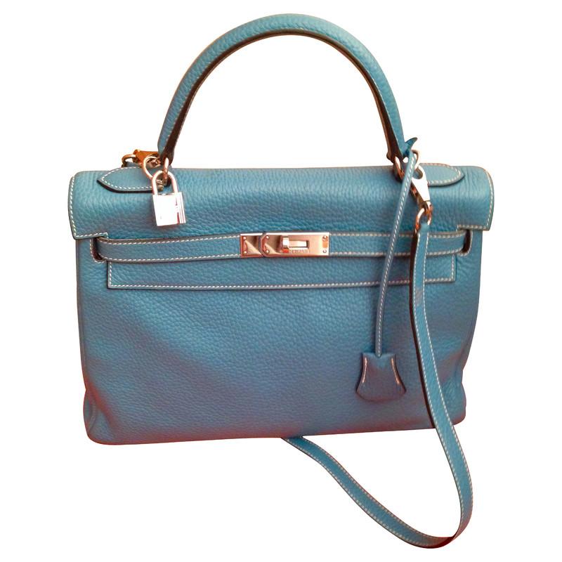 """Hermès Kelly tas kleur """"Blue Jeans"""""""