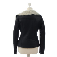 Closed Leather jacket with fur