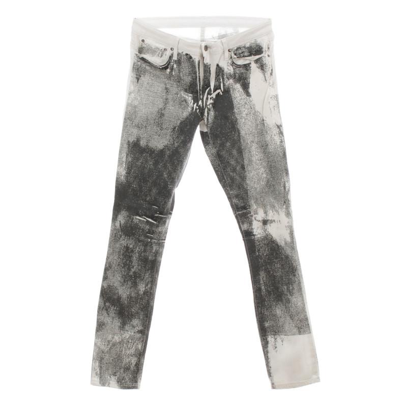 Helmut Lang Jeans met patronen