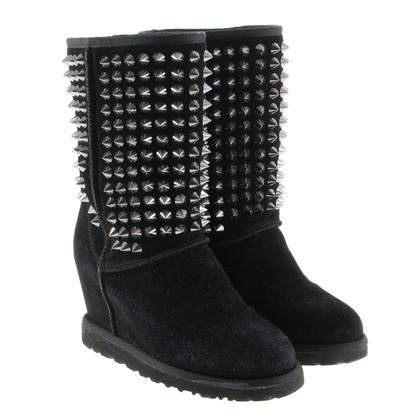 Ash Wedge boots with studs