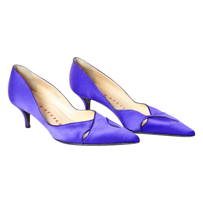 Walter Steiger Satin pumps in purple