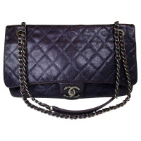 "Chanel ""Flap 2,55"" In Caviar paars"