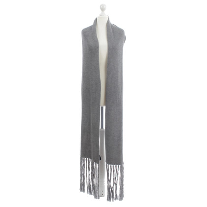Joseph Grey wool scarf with fringe