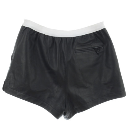 T by Alexander Wang Shorts aus Leder