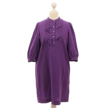 See by Chloé Violettfarbenes Blusenkleid