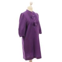 See by Chloé Violettfarbenes Blusen jurk