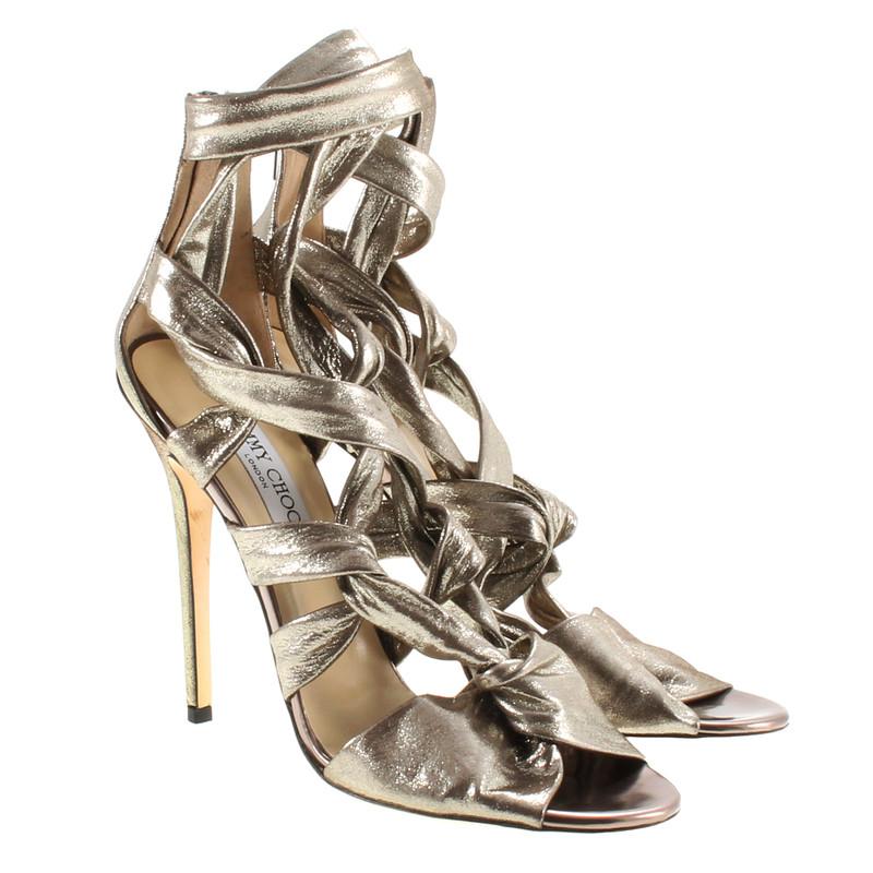 jimmy choo riemchen heels in silber second hand jimmy. Black Bedroom Furniture Sets. Home Design Ideas
