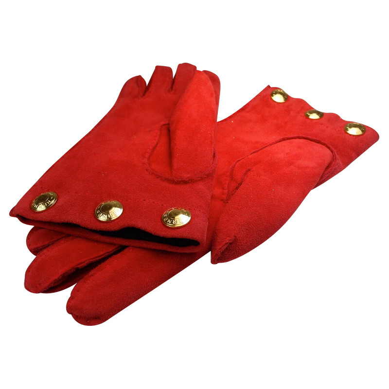 Hermès Wildlederhandschuhe