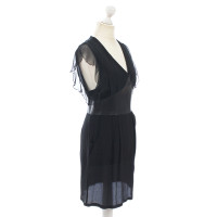 Lala Berlin Silk dress with leather