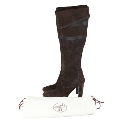 Hermès Stivali in camoscio