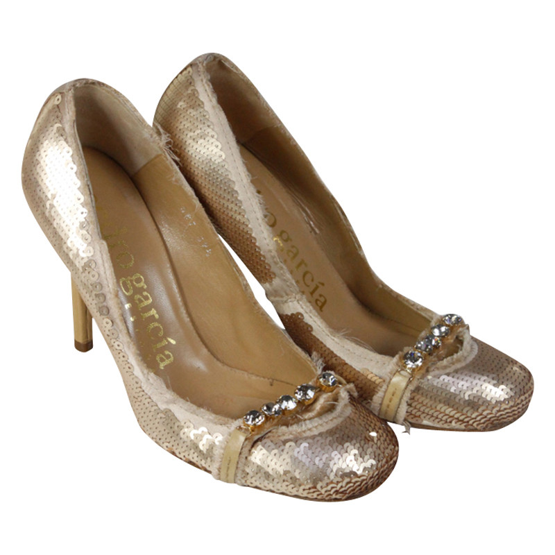 Pedro Garcia Sequin pumps