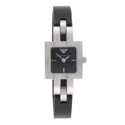 Armani Clip watch in black & silver