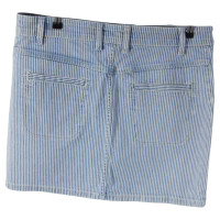 Sandro Striped denim skirt