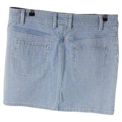 Sandro Striped denim skirt