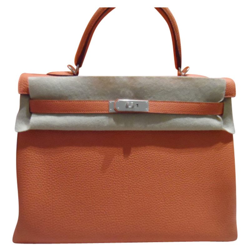 Hermès KELLY BIRKIN 35 TOGO ORANGE GOLD