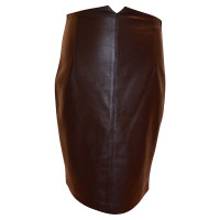 Strenesse Brown leather skirt