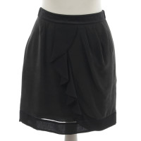 See by Chloé Black silk skirt