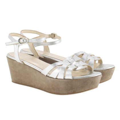 Other Designer Konstantin Starke - plateau sandals in silver