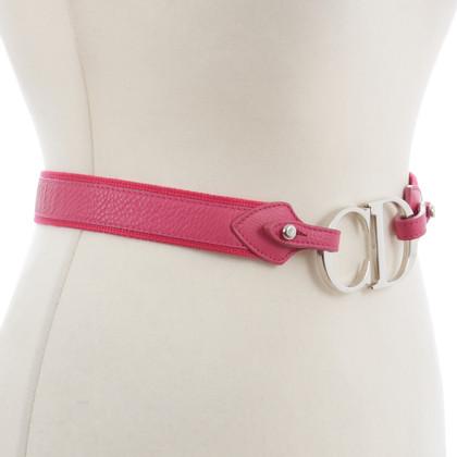 Christian Dior Cintura con logo in rosa