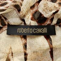 Roberto Cavalli Abito in seta con stampa leopardo