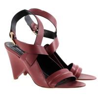 Derek Lam Lederen sandalen in het rood