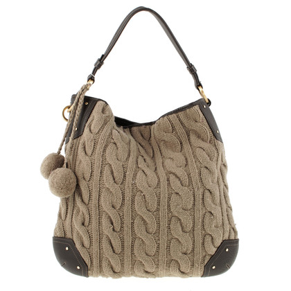Bally Bag with cable pattern